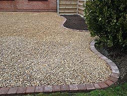 Stone and shingle drive ways